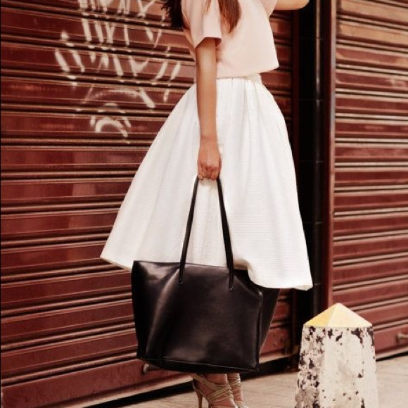 b6aa1f740f Express Dresses & Skirts - Express White Metallic Pleat Circle Midi Skirt
